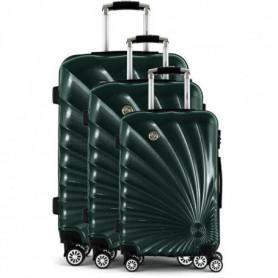 MANOUKIAN Set de 3 Valises Trolley MAN32 Rigide 50-60-70 cm - Vert