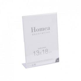 Porte-photo à poser Homea 13x18 cm transparent