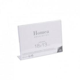 Porte-photo à poser Homea 18x13 cm transparent