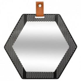 Miroir Hexagone Mona en métal - 30 x 34 cm
