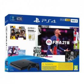 Console PS4 Slim 500 Go Noire/Jet Black + FIFA 21 Jeu PS4