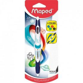 MAPED - Stylo-bille Twin Tip Médium 4 Couleurs