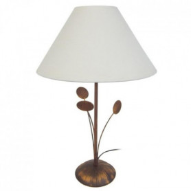 ORBIS Lampe a poser 30x30x48 cm - Marron et blanc