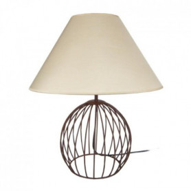 BALL Lampe a poser acier cérusé 45x45x44 cm