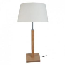 HOD Lampe a poser Bois de hetre acier 30x30x54 cm
