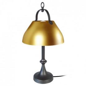 CLOCHE BARRE Lampe a poser acier répoussé