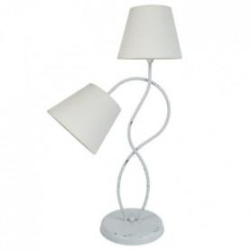 BALAZUC Lampe a poser acier cérusée 40x40x65 cm