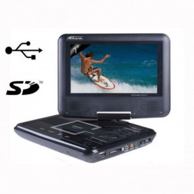 "TAKAVR122B Lecteur DVD portable - Écran rotatif 7"""