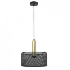 Lustre - H 30 x Ø 30 cm - Noir et laiton