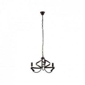 Lustre 3 lumieres finition noir brillant - Ø 53 cm