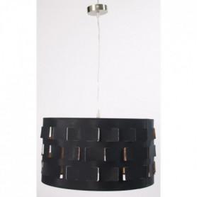Lustre ajouré - Ø 40 cm - Noir et argent
