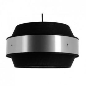 Suspension Duplex - E27 - Noir et acier