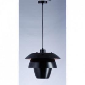 Suspension en métal - H 150 Ø 38 cm - Noir