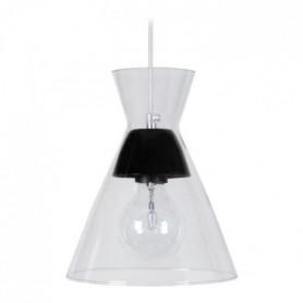 Suspension Conical - Lustre verre et métal