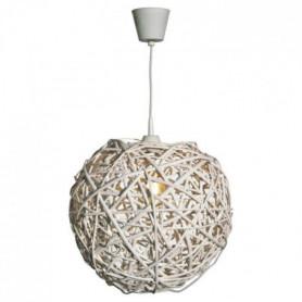 Natura Lustre - suspension perforée en osier 35 cm