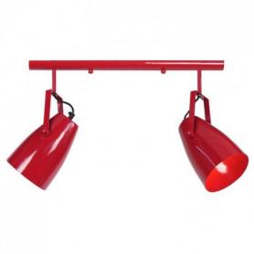 LARSEN 2 Lustre acier 60x60x80 cm Rouge