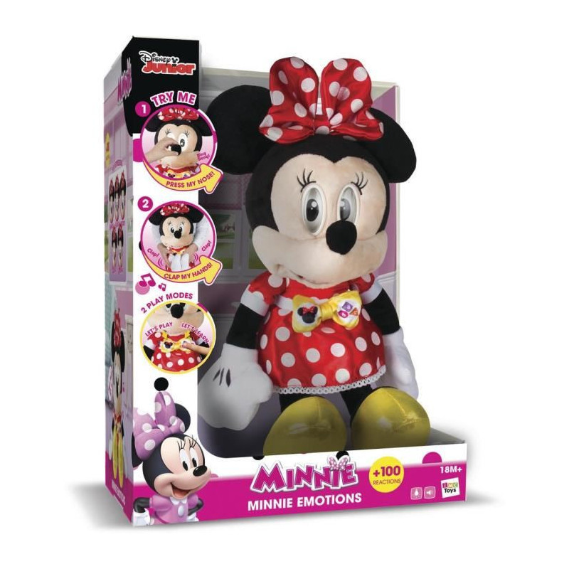 Interactive Imc Toys Sonore Minnie Emotion Peluche m8ONyvwn0