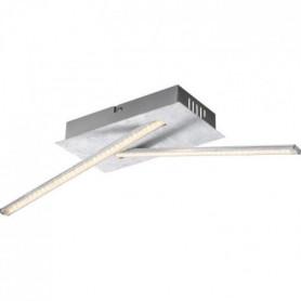 Plafonnier LED en plastique 11x12x48cm Gris métallisé