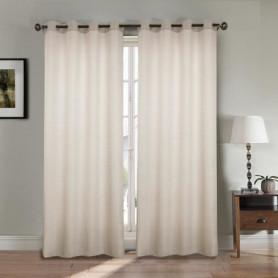 Paire double rideaux 140x260 cm Beige