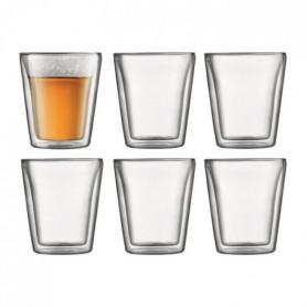 BODUM CANTEEN Set 6 verres double paroi 0.2