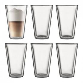 BODUM CANTEEN Set 6 verres double paroi 0.4