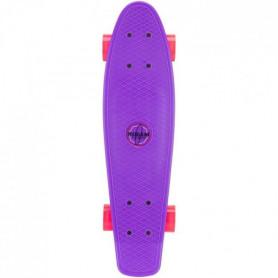 NIJDAM Mini Skateboard a LED - Violet