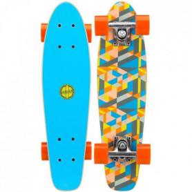 NIJDAM Mini skate en bois - Bleu