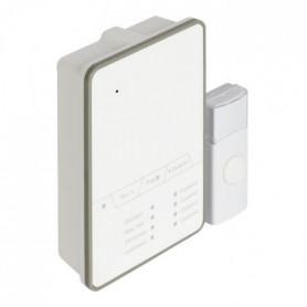 KONIG Sonnette sans fil avec batterie 80 dB blanc