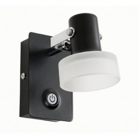 FUSION Spot 1 lumiere LED - L 7 x H 11 cm - Noir