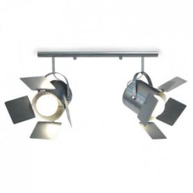 ABBAS Réglette Spot Tôle acier 60x12x80 cm
