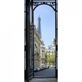 Sticker Adhésif de porte Ondoor- Rue parisienne