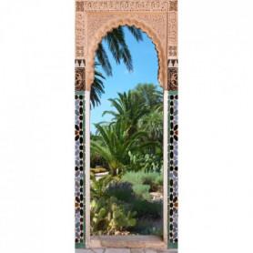 Sticker Adhésif de porte Ondoor Jardin Riad