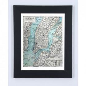 Image encadrée New York Map - 57 x 77 cm
