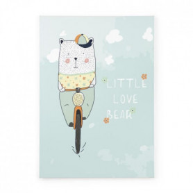 TANUKI Toile tendue Little love Bear - 70x50 cm