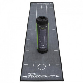PUTTOUT Tapis de putting de golf PRO - Gris