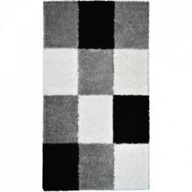 NORA Tapis de couloir shaggy - 80 x 140 cm - Noir