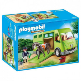 PLAYMOBIL 6928 - Country - Cavalier avec Van