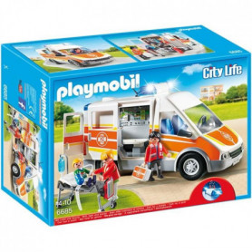 PLAYMOBIL 6685 - City Life - Ambulance avec Gyrophare