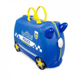 TRUNKI Ride On Valise a Roulettes Enfant Police Percy