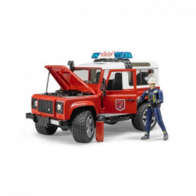 BRUDER - 2596 - Véhicule pompier LAND ROVER Defender