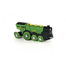 BRIO World  - 33593 - Locomotive Verte Puissante