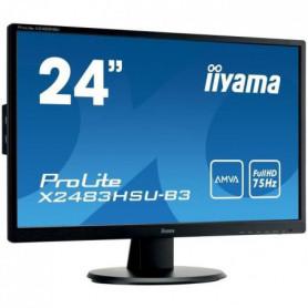 "IIYAMA Ecran 24"" - Full HD AMVA - LED - 4 ms - 75Hz"