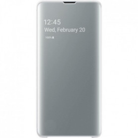 Samsung Clear View cover S10 - Blanc