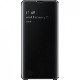 Samsung Clear View cover S10 - Noir