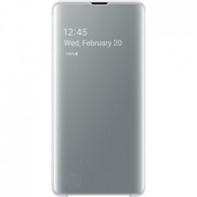 Samsung Clear View cover S10+ Blanc