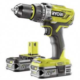 RYOBI Pack Perceuse-visseuse a percussion + 2 Batteries