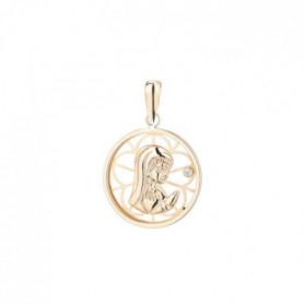 YSORA -  Médaille Vierge en Or Jaune 9 Carats