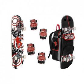 STREET TEENS Skateboard + Coudieres Genouilleres