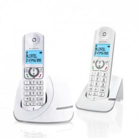 0 Duo Téléphone Sans Fil Sans Répondeur Blanc Gris