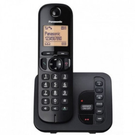 PANASONIC téléphone DECT solo noir avec répondeur